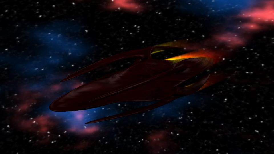 The Alien Cruiser was a terrifying enemy. It had almost impenetrable shields and was armed with a stronger version of the fusion beam. The fusion beam was foward mounted and the ship was rather sluggish, however, it also had a seeker drone launcher - and it launched three drones at a time. The best tactic to fight this ship was to stay behind it or out of range of its beam, try to avoid the drones and attack with missiles and rockets. If you had enough ammunition.