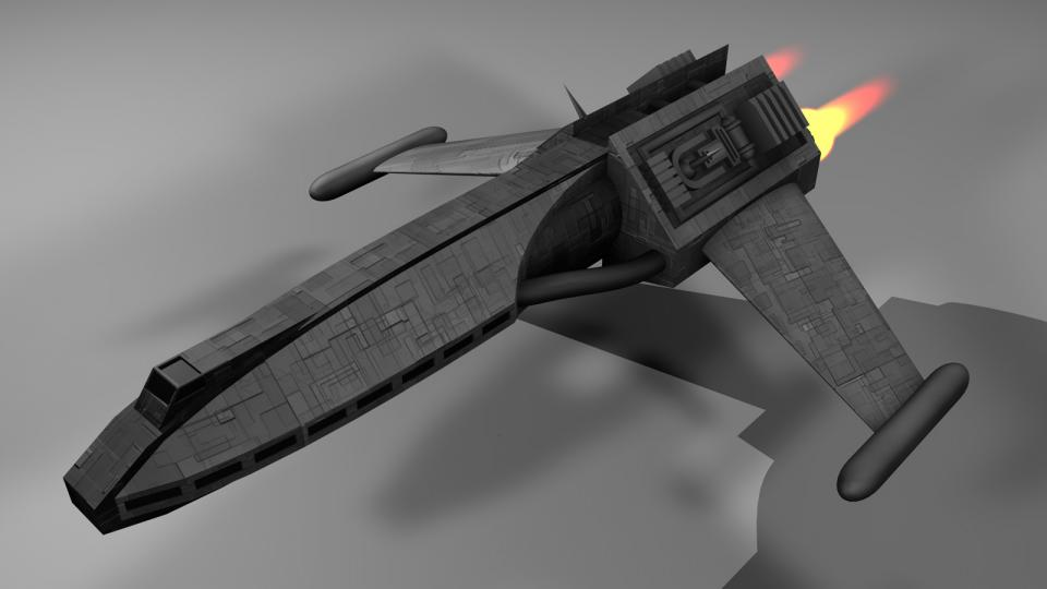 The Executive Transport was one of the ships not available to players. Comparable to a Lear Jet, it was used as a personal transport by business officials and rich personalities.