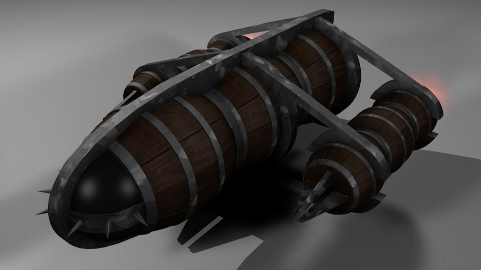 The Emalgha Freighter is small, slow and unarmed. It is used to transport goods between Emalghion, the Emalgha homeworld, and the only Emalgha colony.