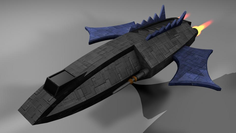 The Helian was a semi-legal ship frequently used by renegades. While officially declared a courier type craft, it was armed with blaze cannons and homing missiles, granting it the firepower of a small warship.