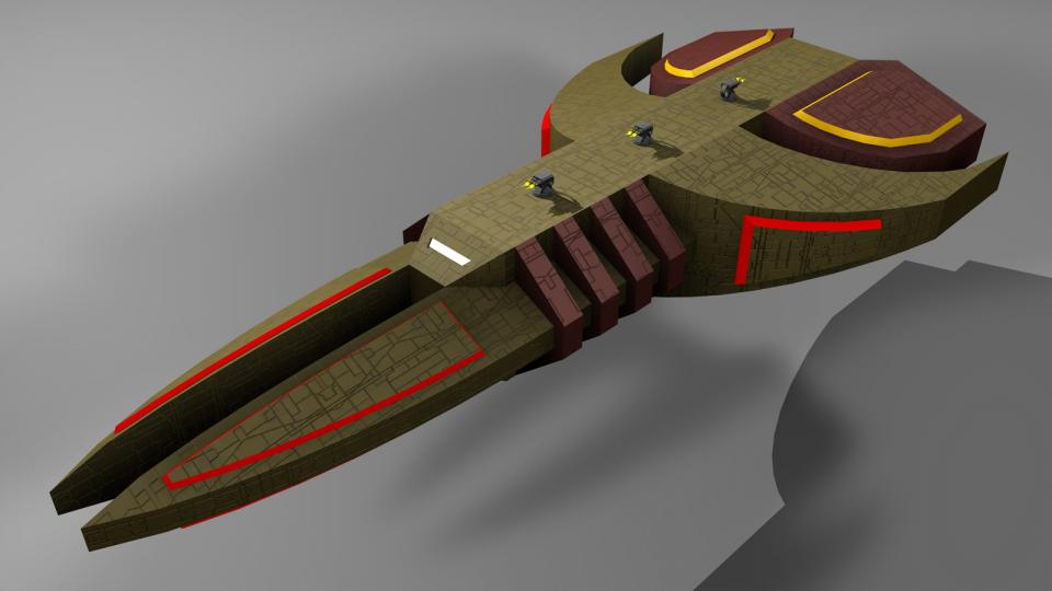 The Igazra was the pinacle of the Igadzra fleet and probably the most powerful warship in the game. Its shields were nearly impenetrable and it was covered in turrets. It was even said that some Igazras had beam weapons aboard, although that was never confirmed. The original Igazra had a distinct penis shape, which is why players often made fun of it.