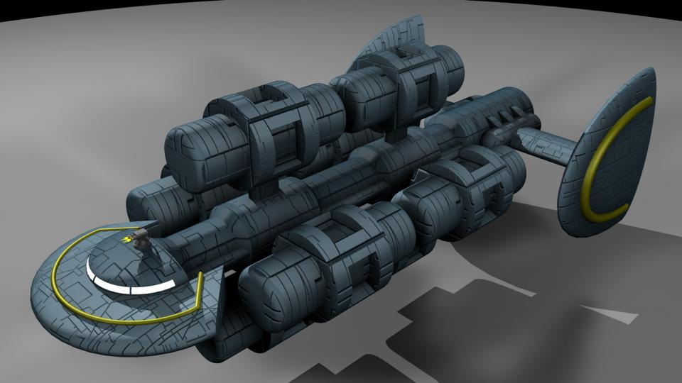 A larger version of the Miranu Freighter, this ship featured immense cargo space.
