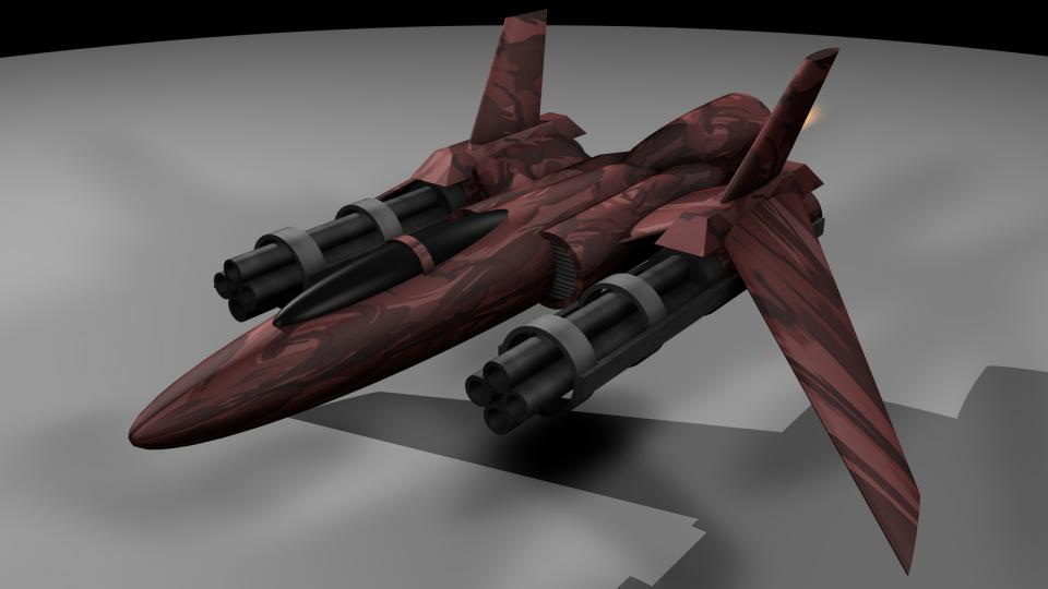 The UE Fighter was the workhorse of the UE navy. Armed with rapid firing blaze cannons and Voinian heavy rockets, it was the Humans' first line of defense against renegades and the Voinians.