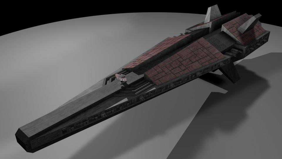 The Dreadnaught only appeared once, during a scouting mission. It was a huge, terrifying ship, armed to the teeth with neutron and rocket turrets, as well as hangars full of Interceptors and Heavy Fighters.