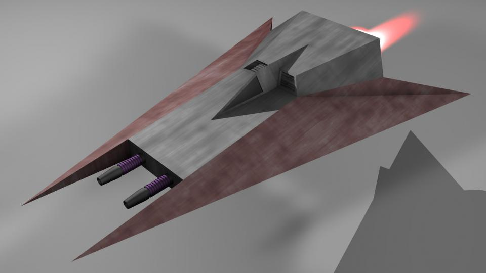 The Interceptor was a fast (for Voinian standards) fighter and usually the first ship to enter combat.
