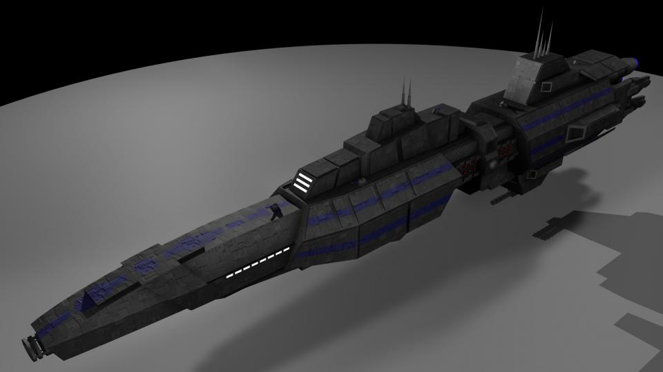 I don't exactly remember where this ship came from. I think I used to believe it to be a ship from Babylon 5. However, after watching the entire series, I never saw it there. Created August 2005