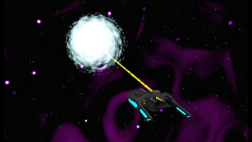 The Starbridge projects a magneton pulse and activates a subspace tensor matrix. This creates a rift in subspace, which evolves into a stable wormhole. Check my Deviantart account to find more pictures and stories about the U.S.S. Lenara, the first Starbridge-class ship.