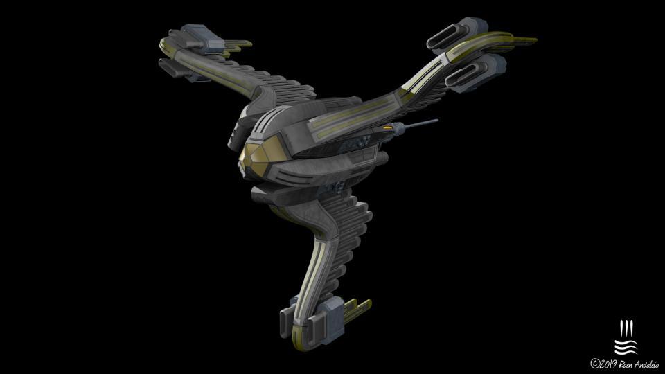 My reinterpretation of one of my favorite ships from Ambrosia Software's Escape Velocity Nova. Created November 2019